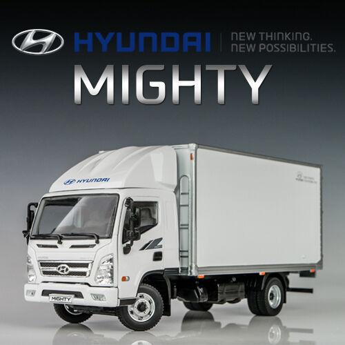 Hyundai Mighty 1 32 Cargo Box Van Camion de livraison Die-Cast Model Voiture