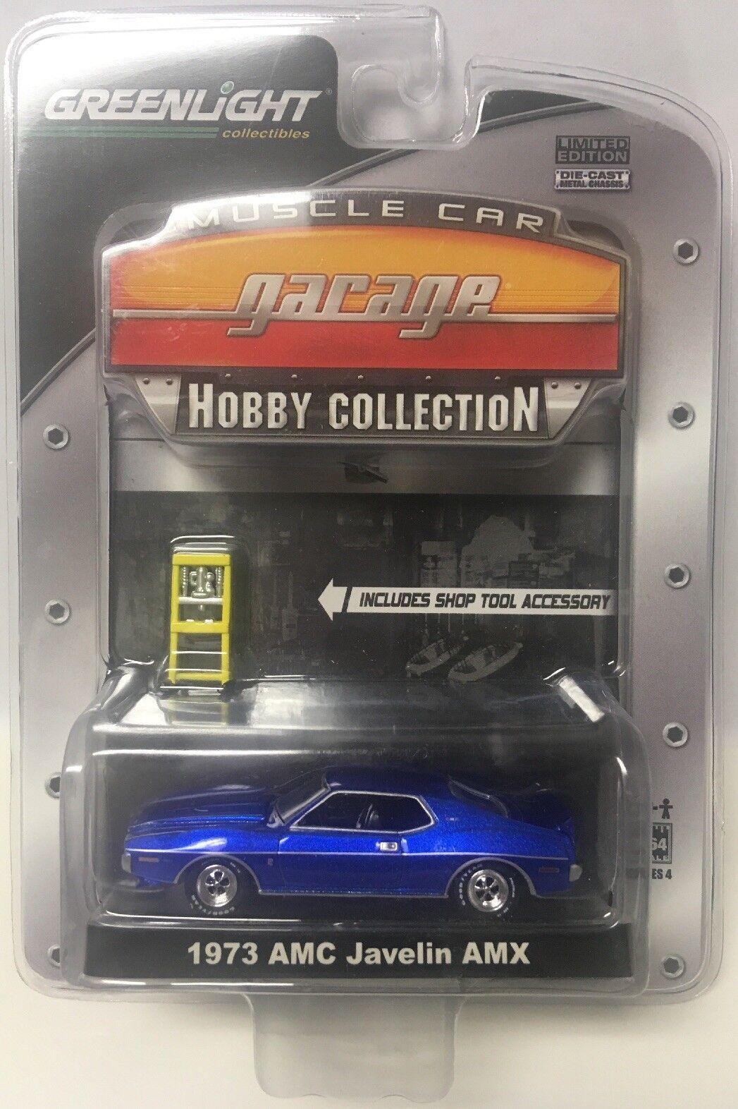 Grünlight mcg muscle - car garage hobby sammlung blauer 1973 amc speerwerfen historischen