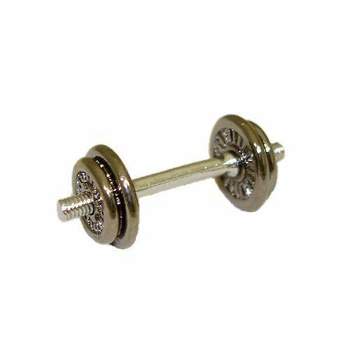 DOLLHOUSE Miniature Exercise Equipment Metal  Dumbbell 1:12 Doll House Miniature