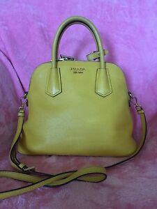 Authentic-Prada-Saffiano-Lux-Yellow-BL0907-Tote-Bag