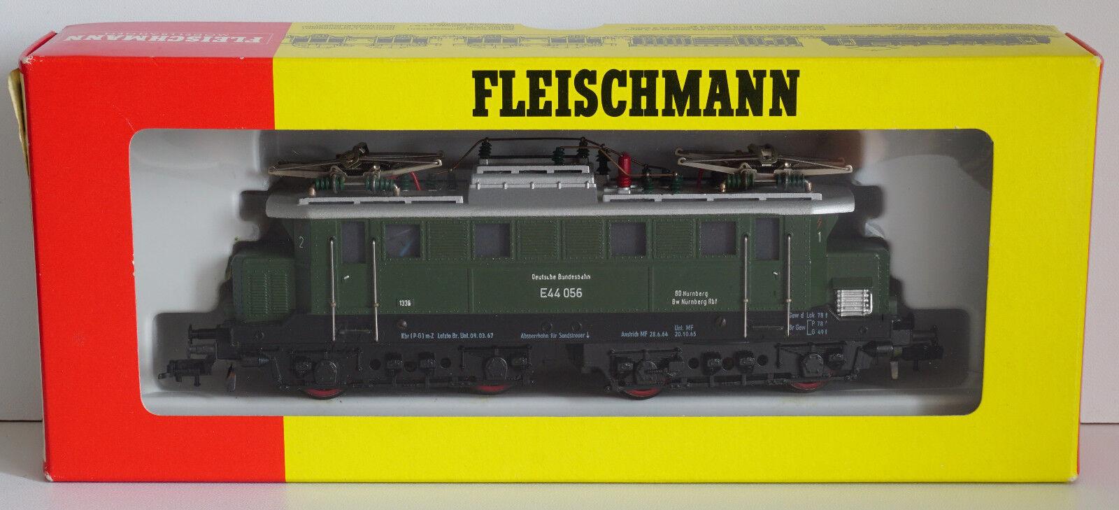 Fleischmann 4330 E-Lok BR 44 e44 056 delle DB-verde-IN SCATOLA ORIGINALE CON ISTRUZIONI
