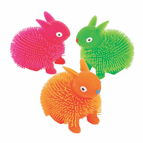 12 Pieces Details about  /Neon Easter Puffer Bunnies Novelty Toys Basket Fillers