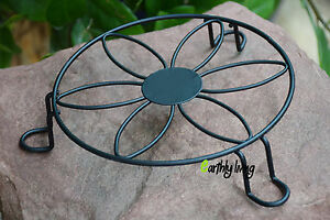 Black Vintage Flower Wire Wrought Iron Planter Plant Stand Outdoor Indoor Garden