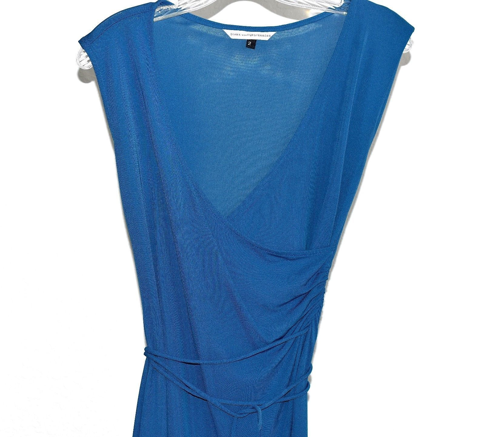 Diane Von Furstenberg Sleeveless Teal Dress sz 2 2 2 f7e01f