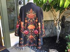 Coldwater Creek Embroidered jacket,  Size-16P, Made in India, black