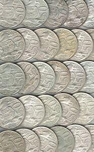 1966-Australia-Round-50-cent-50c-80-Silver-Coin