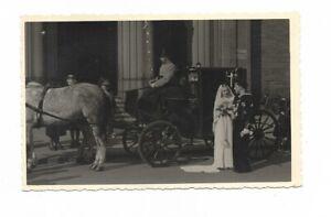 Foto, Soldat, Matrosen Uniform, Abzeichen, Hochzeitsfoto, Hochzeitskutsche, Gebä