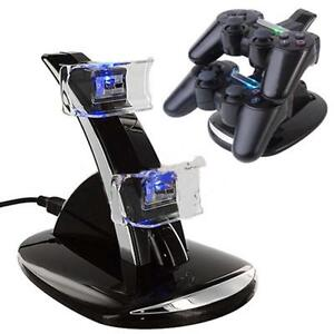 LED-Dual-Controller-Charger-Dock-Station-Stand-Charging-For-Playstation-3-GT3-G