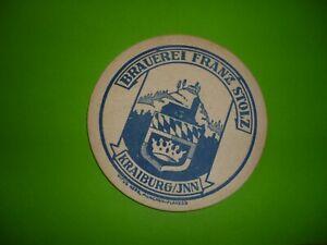 Bierdeckel;. Brauerei - Franz Stolz (Rarität) (1 Stück) - Außernzell, Deutschland - Bierdeckel;. Brauerei - Franz Stolz (Rarität) (1 Stück) - Außernzell, Deutschland