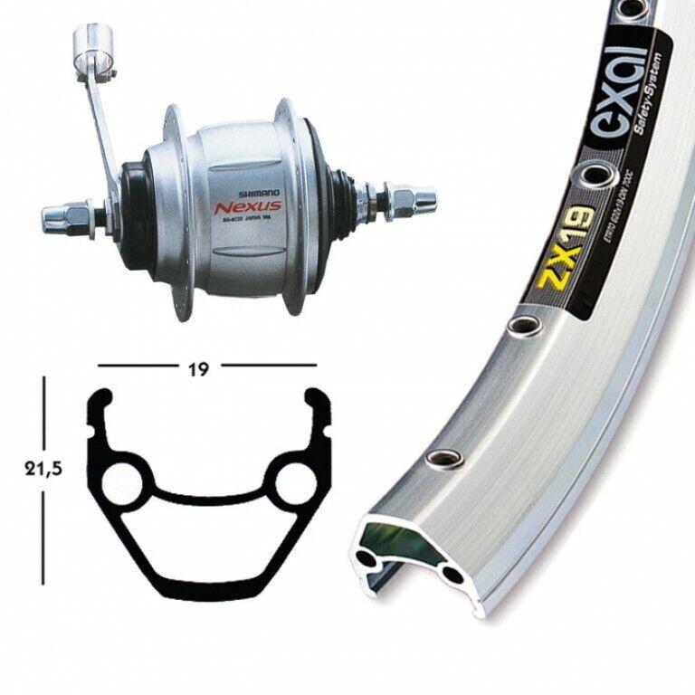 BikeParts 28″ Ruota Posteriore Exal Zx 19  Rocchetto Shimano 8velocità RB