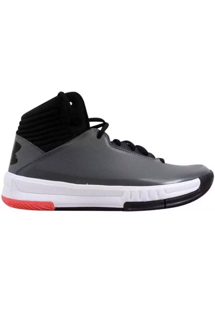 ef4874697508 NEW Under Armour Lockdown 2 Mid Shoes UA Graphite Black Black Black Sneaker  MENS SZ 8.5
