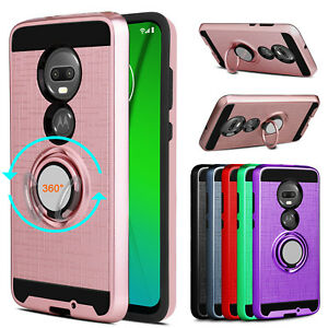 For Motorola Moto G7 Case Ring Holder Kickstand Hard Shockproof Phone Cover Ebay