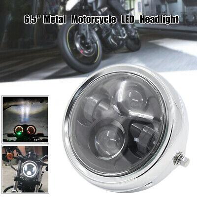 "12V Motorcycle 6.5/"" LED Metal Headlight Head Lamp 6000K Projector high//low Light"