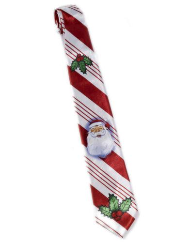 Homme rouge et blanc rayé candy cane christmas SANTA Cravate