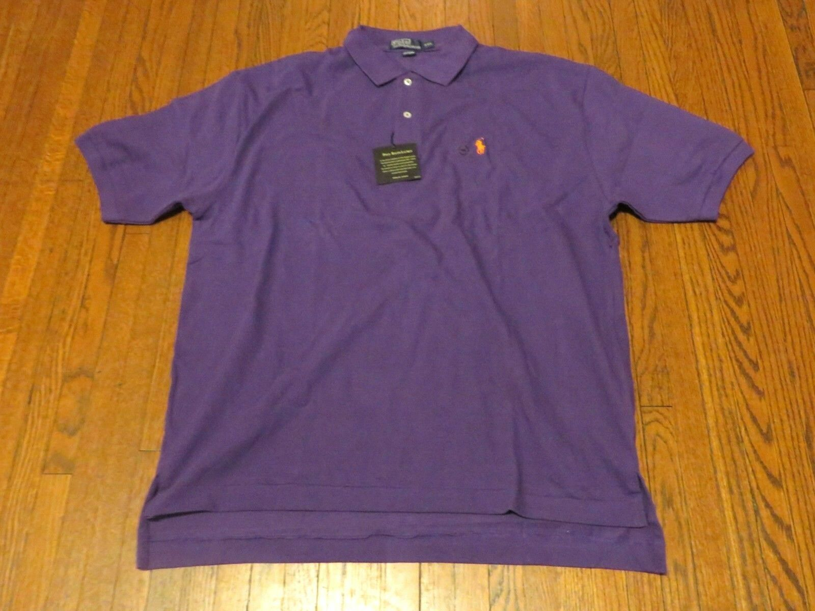 Men's NWT Polo Ralph Lauren The Mesh Shirt Purple Polo Shirt sz 2XL