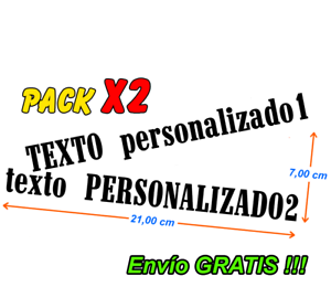 2-x-Pegatinas-Stickers-Tuning-Calcomanias-texto-personalizado-en-vinilo-adhesivo