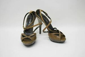 BURBERRY-Ladies-Golden-Brown-Patent-Leather-Strappy-Peep-Toe-Shoes-EU38-5-UK5-5