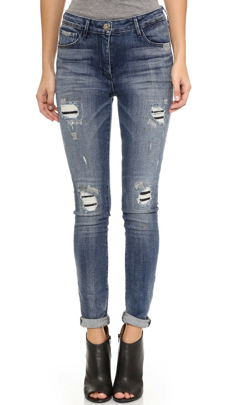 285 NEW 3x1 Jeans W3 High Rise Skinny Jean in Cypress (Mended) - Size 25