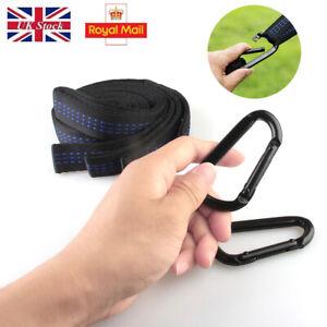 2x adjustable tree hanging hammock belts heavy duty extension straps 16 loops OA