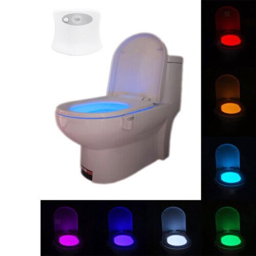 Smart Bathroom Toilet Nightlight LED Body Motion Activated On//Off Sensor