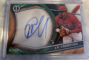 2018-Topps-Tribute-JP-CRAWFORD-GREEN-ON-CARD-AUTO-RC-SP-4-99-PHILLIES