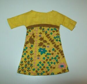 Barbie Doll Clothes Vintage Cut And Sew Yellow Dress D419 Ebay