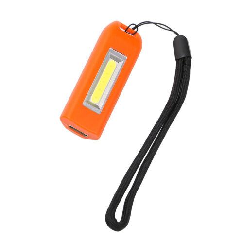Mini USB Portable Rechargeable COB lumière DEL Keychain Lampe de lampe de poche torche Hot