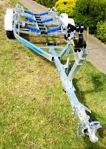 Precision-Boat-Trailer-Drive-On-Galvanised-6-5mt-TANDEM-suit-18-20ft-Hull