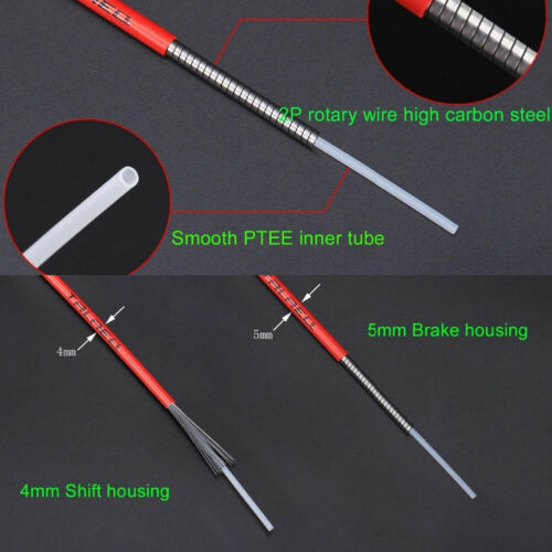 New 3 Meters MTB Mountain Bike Road Bicycle Shift//Brake Cable Housing Hose Tube