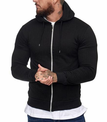 Veste à capuche pour homme Veste 1076 noir