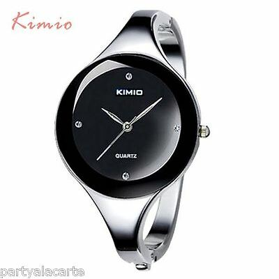 Kimio Branded Stainless Steel Ladies Women Watch Bracelet Girl Wristwatch Bangle