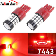 7443 Led Strobe Flashing Blinking Brake Tail Light Parking Safety Warning Bulbs Fits Mazda 6