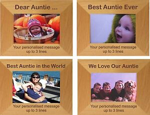 Auntie Photo Frame Personalised Birthday Christmas Niece Nephew