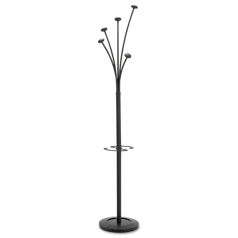 Alba Festival Coat Tree with Umbrella Holder Five Knobs 14w x 14d x 73-2 3h