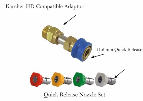 Multi Wash Nozzle Compact Lance Extension Compact Quick Release Compatible