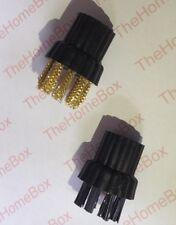 Conjunto de 2 cepillos compatible con X5 H20 Vapor Fregonas (1 X 1 X Metal y nylon)