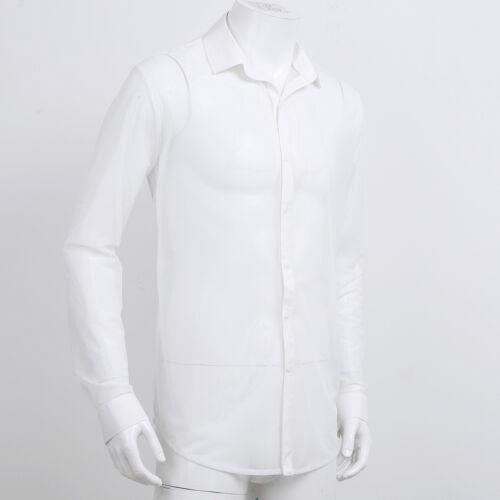 Men Sleeveless Mesh Fishnet Sheer T-shirt Gym Tank Top Sport Muscle Vest Crop