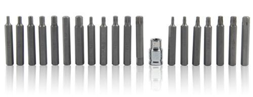 40Pc Torx Star Spline Hex Socket Bit Set 3//8 /& 1//2 Drive Long /& Short Reach Bits