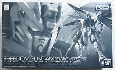 BANDAI RG 1/144 Freedom GUNDAM Deactive mode Premium Bandai limited scale model