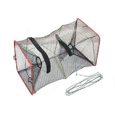 Green Crab Fish Crawdad Shrimp Minnow Fishing Bait Trap Cast Dip Net Cage