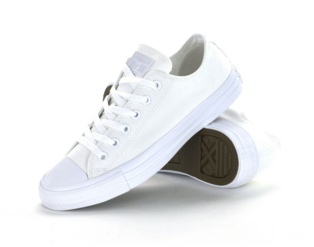 5f01c13c6c13 CONVERSE CT ALL STAR OX - WHITE MONOCHROME -1U647 - UNISEX ADULTS SNEAKERS  -NEW
