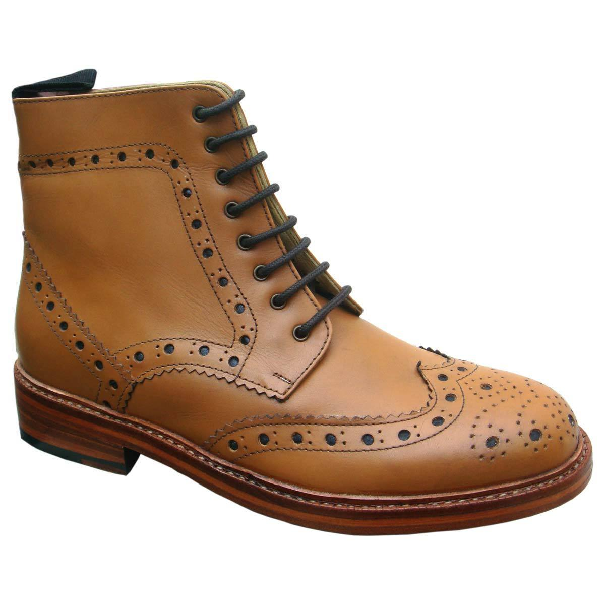 KINGKOMFORT GRAND (KK107LS) HANDMADE GOODYEAR WELTED 100% REAL LEATHER Stiefel
