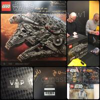 SIGNED LEGO® Star Wars UCS Millennium Falcon 75192 #100 of 100 + Black VIP Card