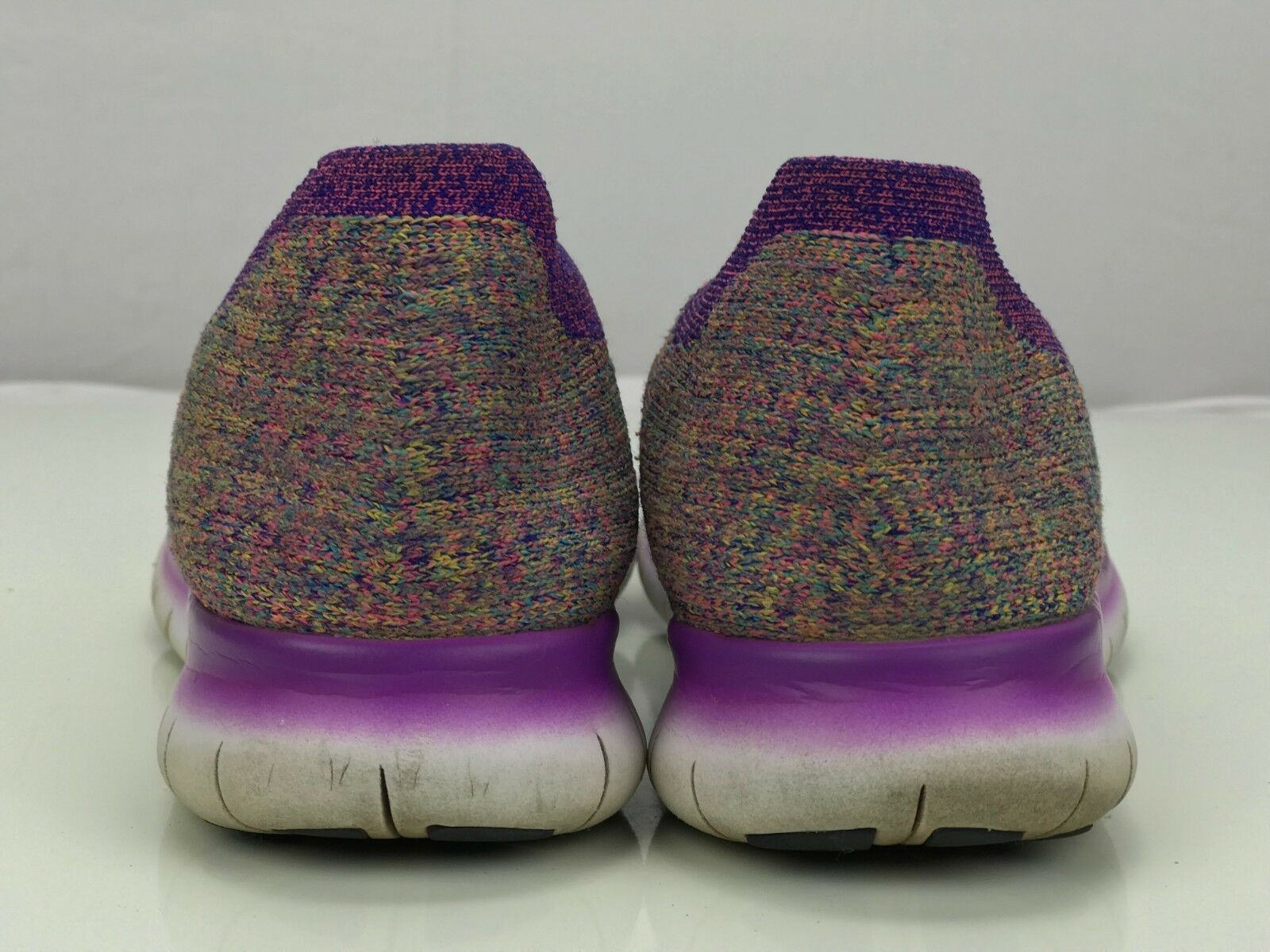 wholesale dealer 9c461 f47ed ... Nike Free Free Free RN Flyknit Marathon Running Shoes Sneakers - Womens  7.5 Purple Black ...