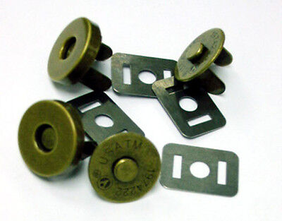 MSA14-AB 25sets 14mm ANTIQUE BRASS Magnetic purse snaps handbag closure fastener