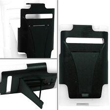 LG Optimus Dynamic L38G Advanced HYBRID KICK STAND Rubber Case Cover Black White
