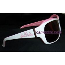 BROWNING SUZIE PINK LADIES SUNGLASSES - PINK & WHITE, ROSE LENS
