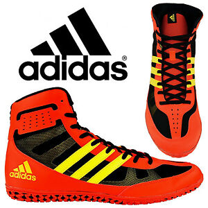 48569233161 Adidas Mat Wizard 3.1 Red Yellow Wrestling Shoes Specialist Light ...