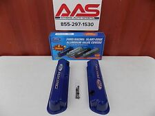 NEW FORD RACING 289 302 351W V8 BLUE SLANT EDGE VALVE COVER SET 302-136