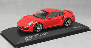Minichamps-Porsche-911-991-Turbo-S-in-Indian-Red-4100672170-1-43-NEW-Ltd-Ed-504